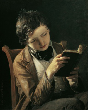 Johann Reiter, Boy Reading (1860)